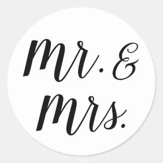 Sr. e Sra. etiquetas