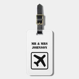Sr. e Sra. feitos sob encomenda Tag da bagagem do Etiqueta Para Mala