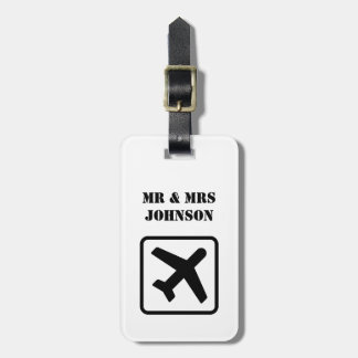 Sr. e Sra. feitos sob encomenda Tag da bagagem do Tags De Mala