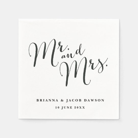 Sr. e Sra. guardanapo de papel