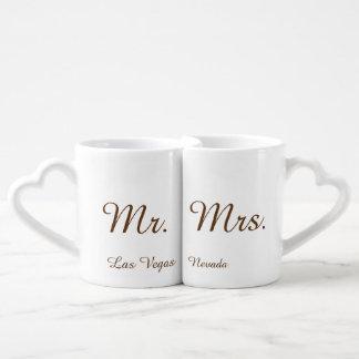 Sr. e Sra. Las Vegas Conjunto De Caneca De Café