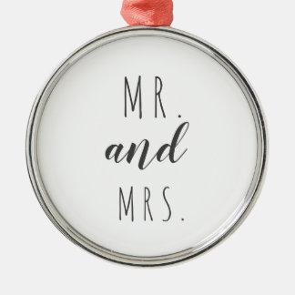 Sr. e Sra. ornamento moderno da casa da quinta