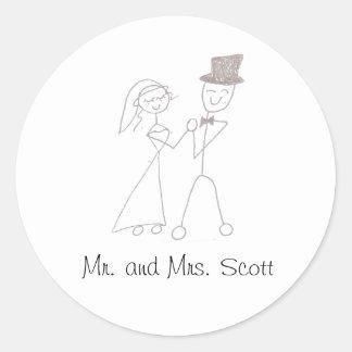 Sr e Sra Scott Adesivo Em Formato Redondo