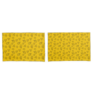 Sr. Feliz & teste padrão amarelo pequeno da