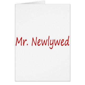 Sr. Newlywed (vermelho) Cartão Comemorativo
