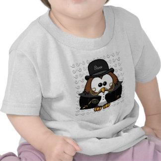 Sr. Ouro Bigode Coruja T-shirts