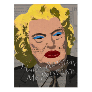 Sr. presidente do feliz aniversario cartão postal