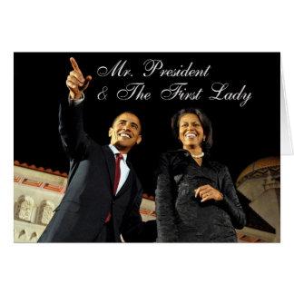 Sr. presidente & primeira senhora do cartão