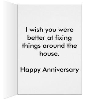 Sr. Reparo- Feliz Aniversário Cartão Comemorativo