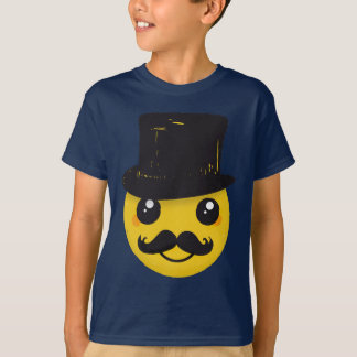 Sr. Smiley Bigode Camiseta