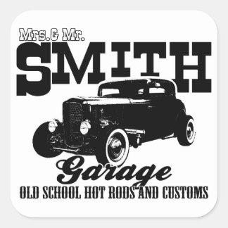 Sr. Smith Hot rod Garagem de Mrs.& Adesivo Quadrado