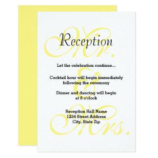 Sr. & Sra. Amarelo - convite da recepção