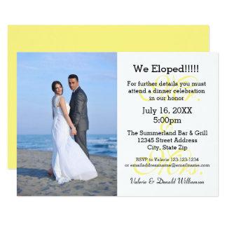 Sr. & Sra. Amarelo Nós Eloped - anúncio da foto