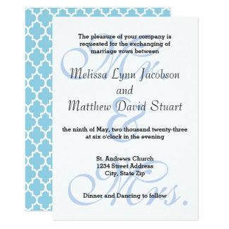 Sr. & Sra. Azul - convite do casamento