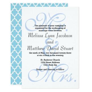 Sr. & Sra. Azul - convite do casamento 3x5