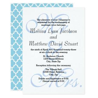 Sr. & Sra. Azul - convite do casamento & da
