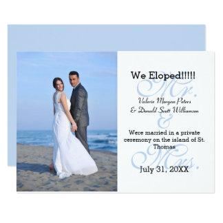 Sr. & Sra. Azul Nós Eloped - anúncio da foto