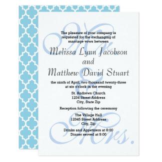 Sr. & Sra. Blue-3x5 Casamento & convite da