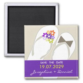 Sr. & Sra. chinelos que Wedding a imã salve a data