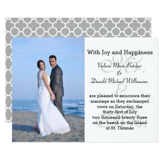 Sr. & Sra. Cinza - anúncio do casamento da foto