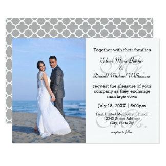 Sr. & Sra. Cinza - convite do casamento da foto