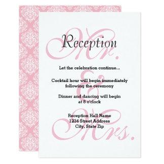 Sr. & Sra. Cor-de-rosa - convite da recepção