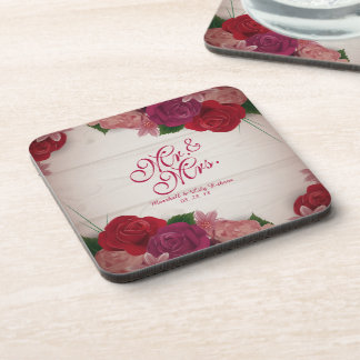 Sr. & Sra. Elegante Floral Casamento Porta copos