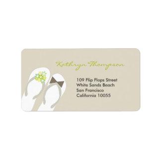 Sr. & Sra. etiquetas de endereço do casamento de