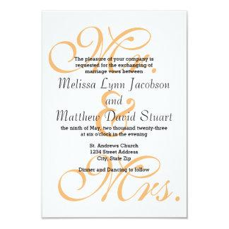 Sr. & Sra. Pêssego - convite do casamento