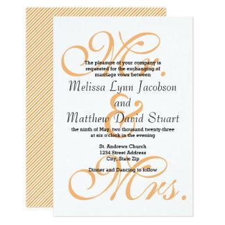 Sr. & Sra. Pêssego - convite do casamento 3x5
