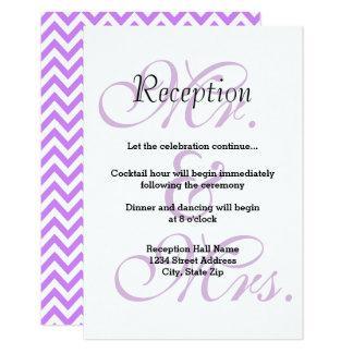 Sr. & Sra. Roxo - convite da recepção