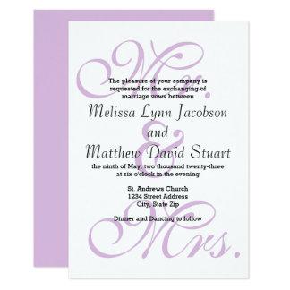 Sr. & Sra. Roxo - convite do casamento 3x5
