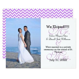 Sr. & Sra. Roxo Nós Eloped - anúncio da foto