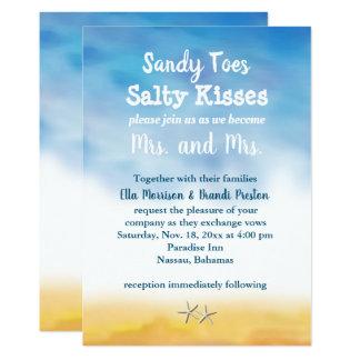 Sra. & convite de casamento da Sra. Sandy Dedo do