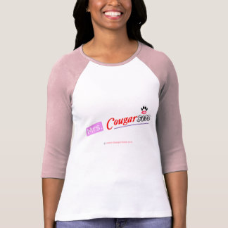 Sra. Cougarsin (rosa & design vermelho) Camiseta