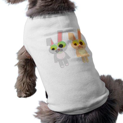 Sra. e Sr. Coelho Animal de estimação Roupa Camisa Sem Mangas Para Cachorro