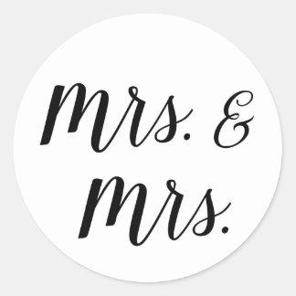 Sra. e Sra. etiquetas