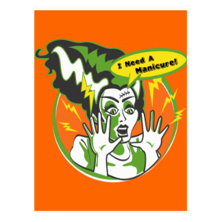Sra. Frankenstein Necessidade um Manicure Cartão Postal