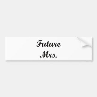 Sra. futura adesivo para carro