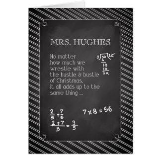 Sra. Hughes, Natal do professor de matemática Cartão Comemorativo