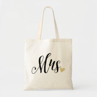 """Sra."" que Wedding Sacola Tote Budget"