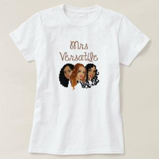 Sra. Versátil Cabelo T-shirt