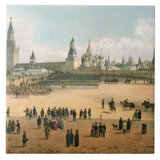St. A catedral da manjericão vista do Kremlin, de