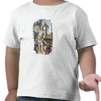 St. Adrian na armadura em uma paisagem aberta Tshirt