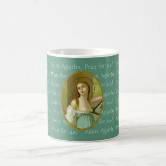 St. Agatha (M 003) 11 onças. Caneca de café #1