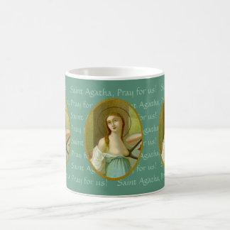 St. Agatha (M 003) 11 onças. Caneca de café #3