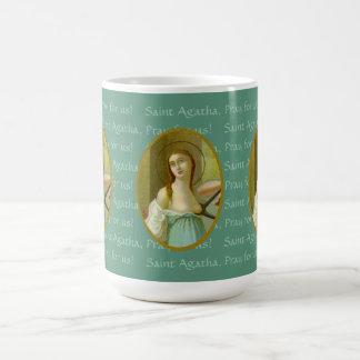 St. Agatha (M 003) 15 onças. Caneca de café #3