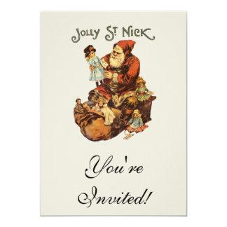 St. alegre Nick do vintage Convites Personalizado