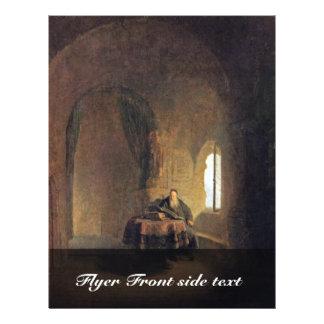 St. Anastasius por Rembrandt-Kopist (a melhor qual Panfletos Coloridos
