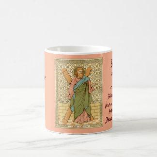 St Andrew a caneca de café 1 do apóstolo (RLS 01)
